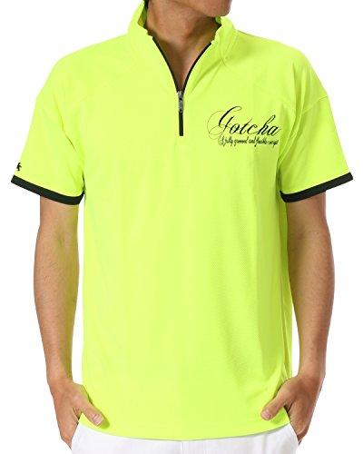 (ガッチャ ゴルフ) GOTCHA GOLF ポロシャツ 変形パターン クイックドライ ジップ シャツ [吸汗速乾] 72GG1217