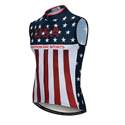 Cycling Vest Men's Cycling Sleeveless Biking Shirt Clothing Jacket Bike Bicycle Jersey L