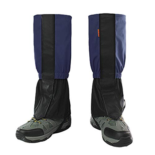 BMHNOONE Leg Gaiters for Men and Women, Adjustable and Waterproof Snow Boot Gaiters Shaft Height 17.3 for Hiking, Walking, Hunting, Mountain Climbing and Snowshoeing