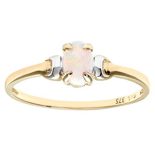 9k Yellow Gold Opal Ring - 2