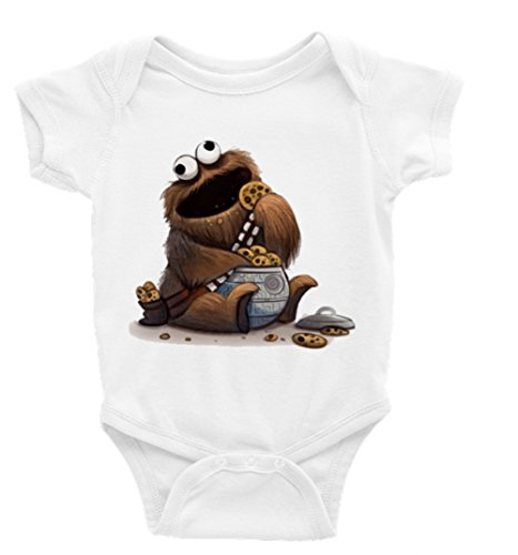 Cookie Monster Chewbacca Star Wars Short Sleeve Onesie (3-6) ()