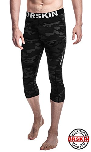 [DRSKIN] Tight 3/4 Compression Pants Base Layer Running Pants Men Women