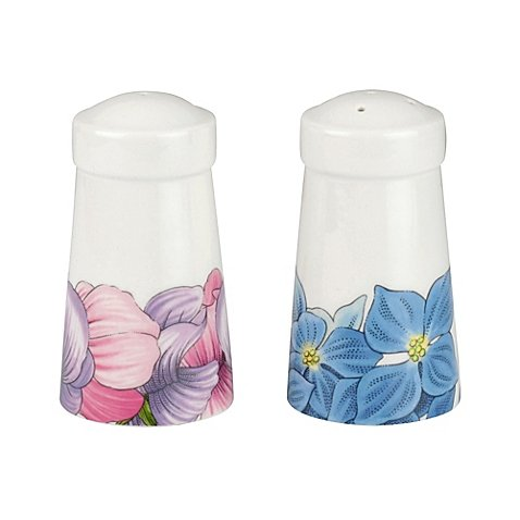 (Portmeirion Botanic Blooms Hydrangea and Sweet Pea Salt and Pepper Shaker Set)