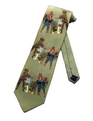 Tie Mania Mens Spice Girls Pop Music Band Necktie - Beige - One Size Neck ()