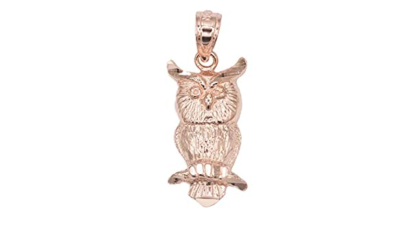 Graduation Gifts for Students Good Luck Charms 14k Solid Gold Owl Pendant Necklace Protection and Knowledge Jewelry Gifts for Women