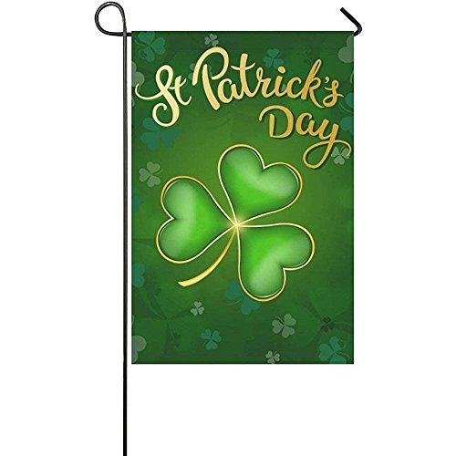 Irish St. Patrick's Day Garden Flag Banner 12 x 18 inch, Gre