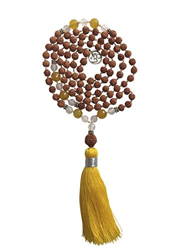 Jasper Porcelain Necklace (Rudraksha Mala Bead Necklace by Kuratif- 108 prayer beads)