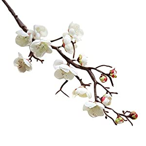 FYYDNZA 60Cm Artificial Flower Cherry Spring Plum Peach Blossom Branch Silk Flower Tree Flower Bud For Wedding Decors 118