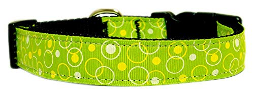 Mirage Pet Products Retro Nylon Ribbon Collar, Small, Lime Green]()