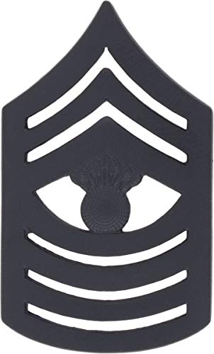 USMC Black Metal (Subdued) Enlisted Rank (Pair) (E-9 Master Gunnery - Usmc Sergeant Gunnery Master