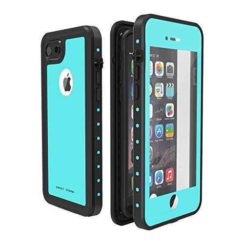 timeless design 0137c 41209 ImpactStrong iPhone 7/8 Waterproof Case [Fingerprint ID Compatible] Slim  Full Body Protection for Apple iPhone 7 and iPhone 8 (4.7 inch) - Ocean Blue