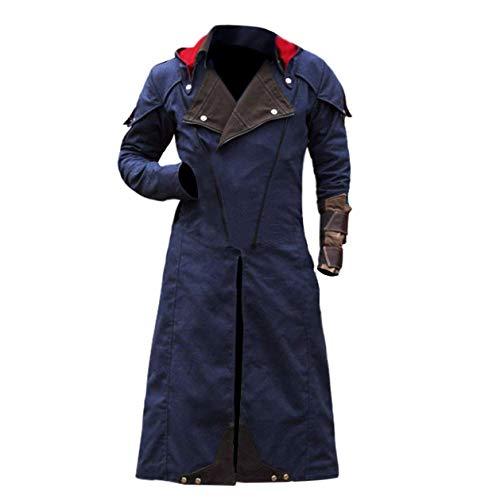 Assassin's Unity Creed Arno Victor Dorian Denim Cloak Blue Halloween Costume Coat]()