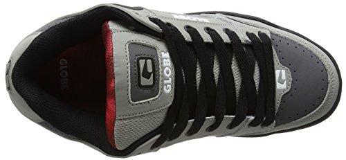 Globe Tilt, Zapatillas de Skateboarding Unisex Adulto Grey (Grey/Black/Red)
