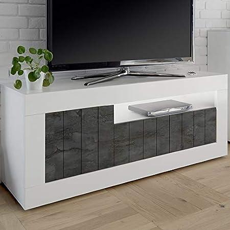 Kasalinea Mabel 6 - Mueble para televisor, Color Blanco y Gris Oscuro: Amazon.es: Hogar