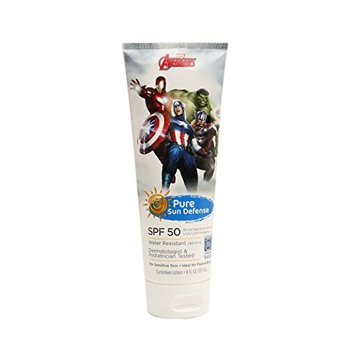 Marvel Avengers, Pure Sun Defense, SPF 50, For Sensitive Skin, Broad Spectrum, 8 oz