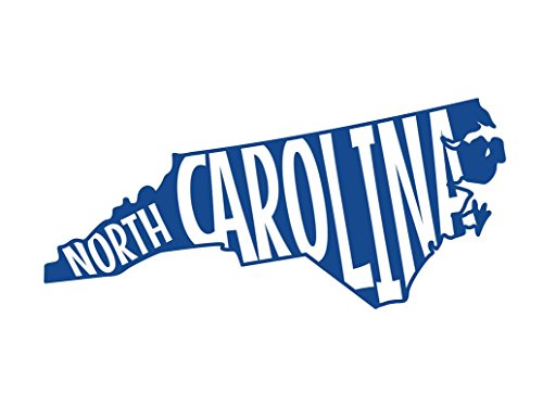 ND373B State Of North Carolina Block Decal Sticker | 5.5-Inches By 2.5-Inches | Premium Quality Blue Vinyl