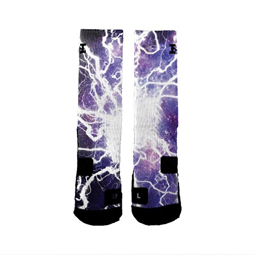 HoopSwagg Brand Athletic Socks Lightning Galaxy Medium by HoopSwagg (Image #1)