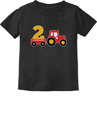 2nd Birthday Gift Construction Party 2 Year Old Boy Toddler/Infant Kids T-Shirt 3T Black]()