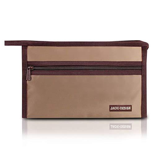 Necessaire Envelope Essencial Iii Poliéster Marrom - Jacki Design
