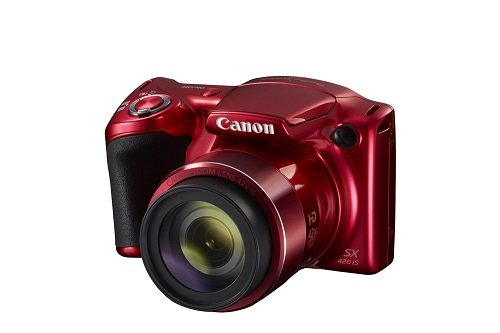 Canon PowerShot SX420 Digital Camera w/ 42x Optical Zoom – Wi-Fi & NFC Enabled (Red)