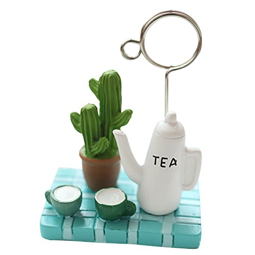 Resin Handcraft Memo Holder Paper Note Photo Clip Multi-style Desk Messages Clip pattern teapot