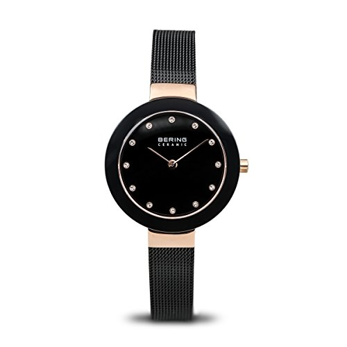 BERING Time 11429-166 Women Ceramic Collection Watch with Stainless-Steel Strap and scratch resistent sapphire crystal. Designed in Denmark