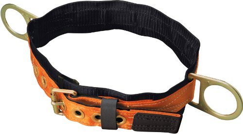 Titan Tongue Buckle Body Belt with Side D-Rings and 3-Inch Back Pad, Medium (T3320/MAF) - Miller Body Belts