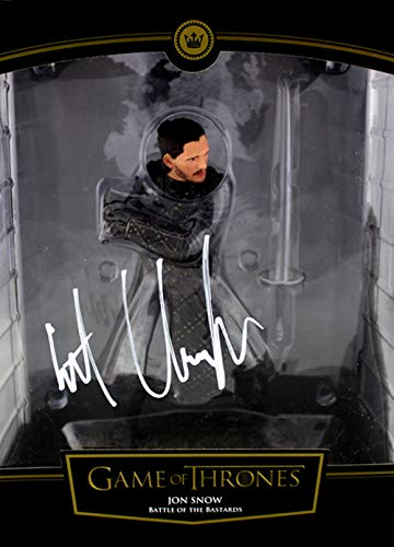 (Kit Harington Autographed/Signed Game of Thrones – Jon Snow Battle of the Bastards Action Figure)
