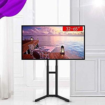 JNWEIYU TV portátil Soporte de Suelo de pie - Fits 32 y 70 Pulgadas Televisor, Regulable en Altura Poste telescópico for Interiores y Exteriores, 45 Lbs: Amazon.es: Hogar