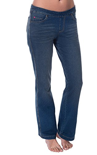 PajamaJeans Women's Tall Bootcut Stretch Knit Denim Jeans, Vintage, X-Small 0-2