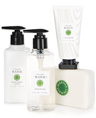 Martha Stewart Soap - Martha Stewart Collection Cucumber Water Scented Soap and Lotion Gift Set (4-Piece Set)