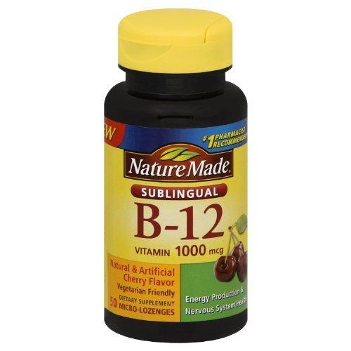 Nature Made Sublingual Vitamin B-12 1000 Mcg-50 Count ( Pack of 3) (Sublingual Vitamin B12 1000 Mcg compare prices)