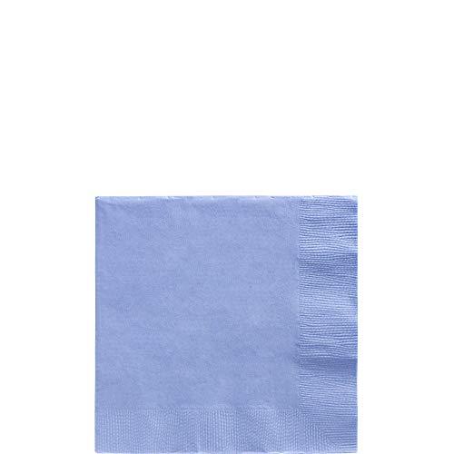 amscan Pastel Blue Beverage Paper Napkin Big Party Pack, 125 Ct. (Blue Slate Paper Napkins)