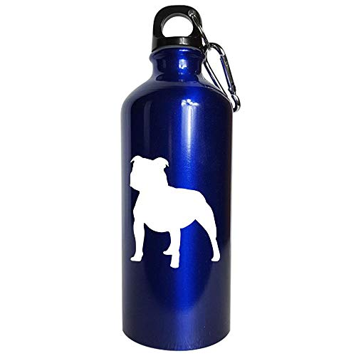 Best gift ideas for American Pitbull Terrier lovers - Water Bottle Metallic Blue ()