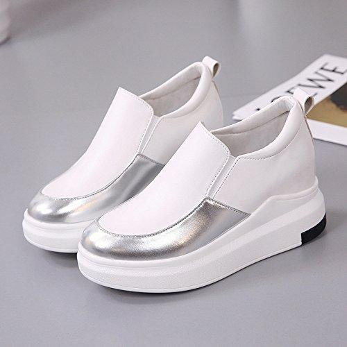In KPHY White Scarpe Donna Da Rotonda 39 Casual Aumento Solo Scarpe Piccole Le Testa Forty Scarpe Le Scarpe Bianche dqxqarRH