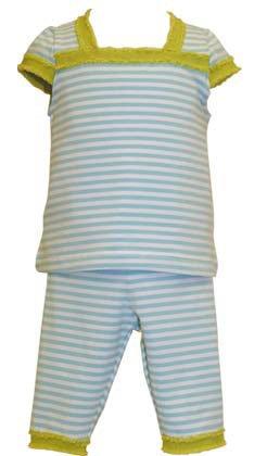 Amazon.com: Baby Lulu Stripes & sólidos bebé niñas azul ...