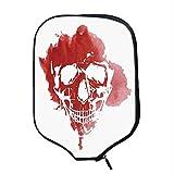 YOLIYANA Horror House Decor Durable Racket Cover,Skull Head in Watercolor Brush Stroke Gothic Skeleton Splash Voodoo Paint for Sandbeach,One Size