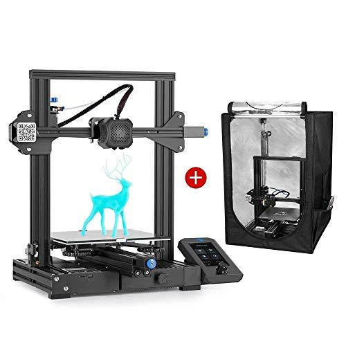 Creality Ender 3 V2 3D Printer and Creality 3D Printer Enclosure Small Size