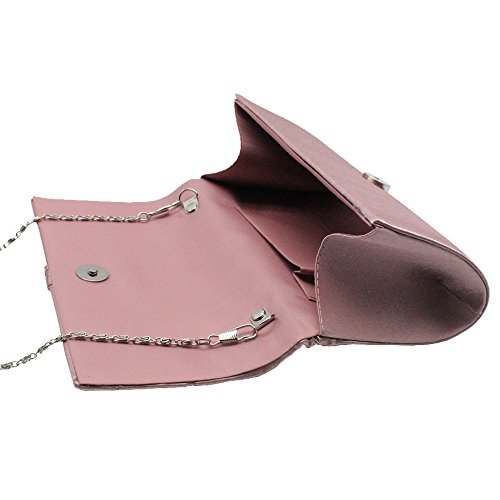 Vagabunda Real De Diamantes Rosados Embrague Diseño Días Del Plisado Imitación Noche De De azul Bolso De Satén Wiwsi apxwvq5E