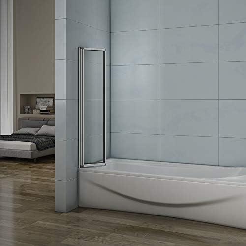 Pared plegable de bañera, Mampara de Cristal para Ducha Cristal 4mm 120x140cm Perfil Gris Mate: Amazon.es: Bricolaje y herramientas