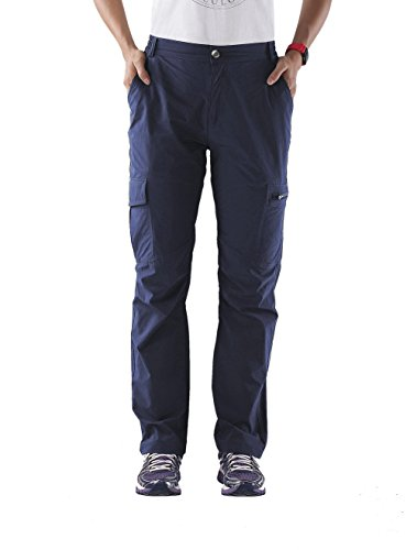 Nonwe Women's Quick Drying Running Pants Outdoor Breathable Blue M/29 (Breathable Nylon Pant)