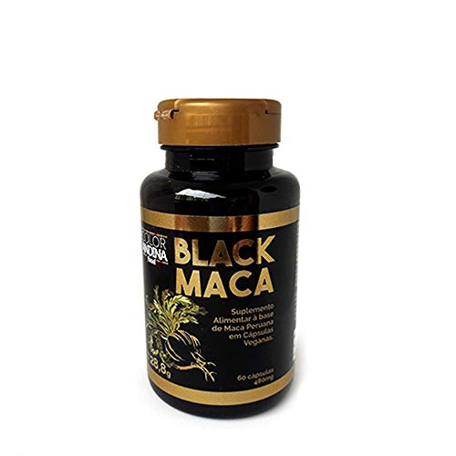 Maca Peruana Black (Preta) Maca, Color Andina Food, Veg 60 Capsulas