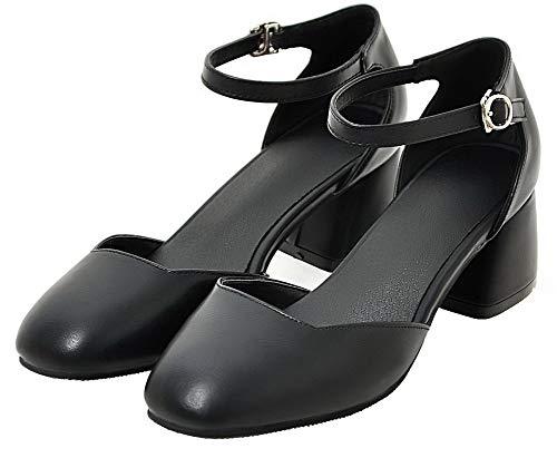 GMMDB010589 Tacco Flats Nero Puro Luccichio Fibbia Ballet Donna Medio AgooLar 4HqaAwfA