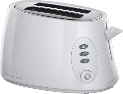 Russell Hobbs 18025 2 Slice Stylis Compact Toaster - White by Russell Hobbs