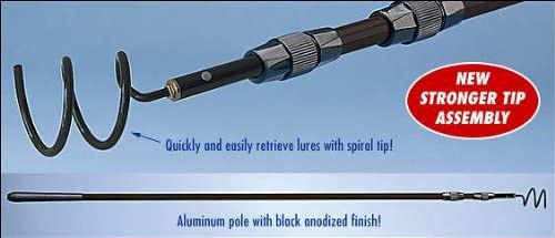 Amazon.com : Dotline Drifter Marine Dot Line Lure Retriever Spiral Tip Aluminum Black 3Pc Telescopic - 12ft Md#: Fishing Equipment : Sports & Outdoors
