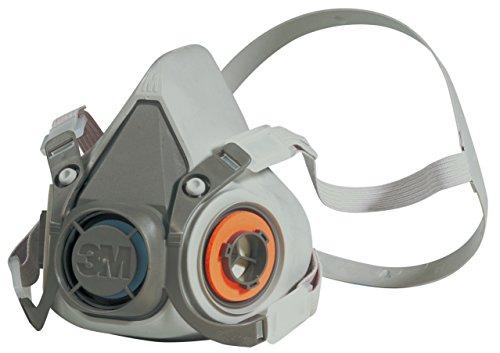 3M 6000 Series Half Mask Reusable Respirator/Dust & Gas Mask - 6200/Medium ()