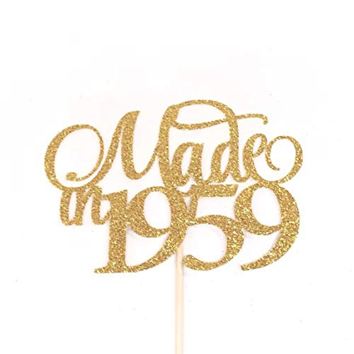 Amazon Made In 1959 Cake Topper 60th Birthday Cake Topper