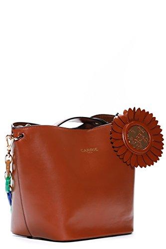 LA CARRIE BAG Borsa Marrone Donna Marvellous Art 181-F-370-PE CUOIO P18 Envío Libre Exclusiva Tienda De Liquidación Bz0EL