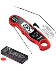 Meat Thermometer, Ftaxiv Dual Probe Food Thermometer with Backlight & Calibration,Digital Instant Read Timer for The Oven, Grill, Kitchen, BBQ, Smoker, Sous Vide, Rotisserie, Deep Frying, Baking