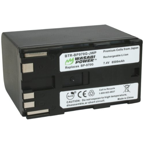 Wasabi Power Battery for Canon BP-970G, BP-975 and Canon EOS C100, EOS C100 Mark II, EOS C300, EOS C300 PL, EOS C500, EOS C500 PL, GL2, XF100, XF105, XF200, XF205, XF300, XF305, XH A1S, XH G1S, XL H1A, XL H1S, XL2 (8500mAh)